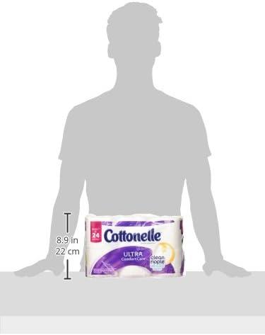 Cottonelle Ultra ComfortCare Toilet Paper, Bath Tissue, 12 Double Toilet Paper Rolls