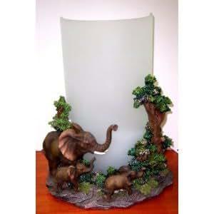 "Montefiori Collection Elephant Themed Desk Lamp -- 11"""