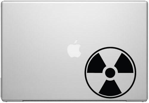 Radioactive Warning Radiation Nuclear Waste Macbook Car Tablet Art - Black Vinyl Decal for 13