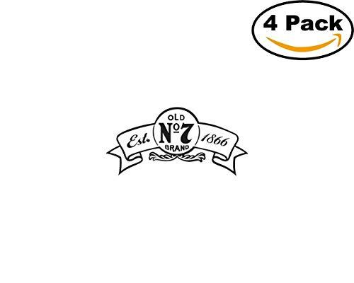 jack daniels 1866 4 Stickers 4x4 Inches Car Bumper Window Sticker Decal