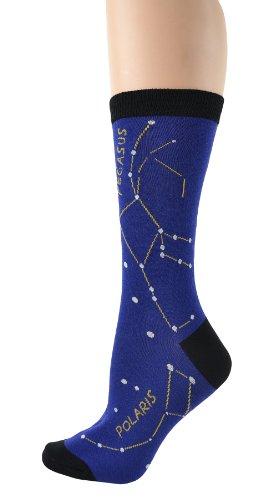 Foot Traffic - Women's Education-Theme Socks, Constellation (Shoe Sizes 4-10)