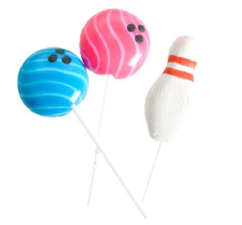 Bowling Party Favor (Bowling Lollipops With Stick (1 dz))