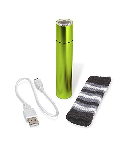 P3 2200mah Smart Warmer/Charger, Green 2200 mAh,