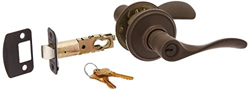 Schlage F51 CHP 613 16-211 10-063 Champagne Keyed Entry Lever, Oil-Rubbed Bronze
