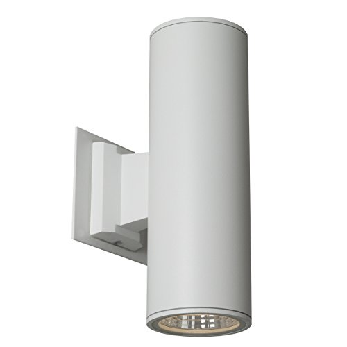 SLV Lighting 751270U Rox LED up-Down Indoor/Outdoor Wall Sconce, White Finish Down Lighting Fixture