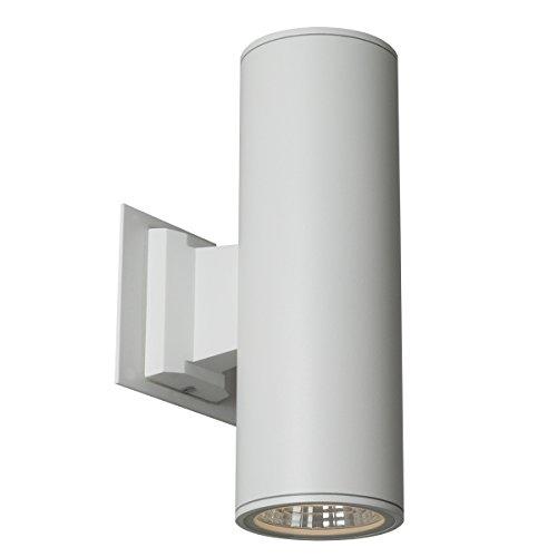 White Finish Outdoor Sconce - SLV Lighting 751270U Rox LED up-Down Indoor/Outdoor Wall Sconce, White Finish