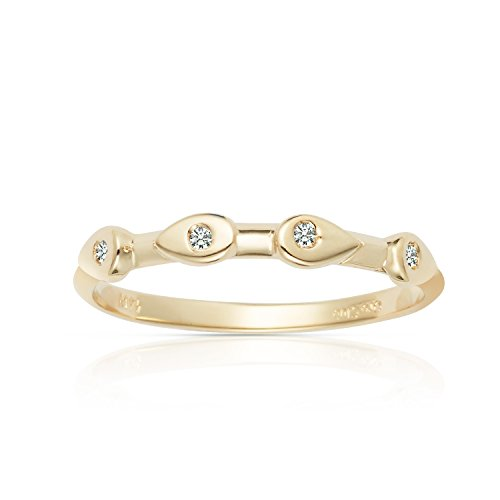 Jewel Connection New 2017 Style Stackable Solid 14k Yellow G