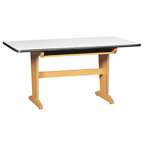 Diversified Woodcraft PT-61P Solid Maple Wood Art/Planning Table with Book Compartment and Plastic Laminate Top, 60