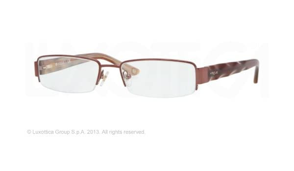 Amazon.com: Vogue Vo3758 Eyeglasses 811 Brown Demo Lens 51 ...