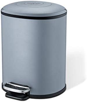 滑らかな表面 トイレのごみ箱、ベッドルームスタディサイレントゴミ箱ポータブルペダルビンリビングルームキッチン装飾用ゴミ箱 リサイクル可能なデザイン (Color : Blue, Size : 12L)