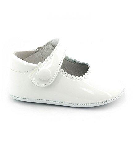 Boni Thérèse - Lauflernschuhe Mädchen weißem Leder - 19, Weiß
