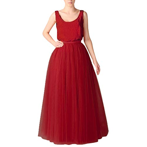 Wedding Planning Women's Long Tutu Tulle Skirt A Line Floor Length Skirts X-Large (Floor Length A-line Skirt)