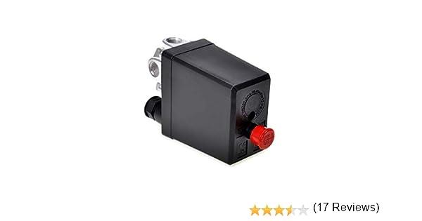 ndier Regulador del Compresor de aire de repuesto manómetros monofásico Válvula de seguridad presostato de aire para usos Las arduas DIY DIY: Amazon.es: Bricolaje y herramientas