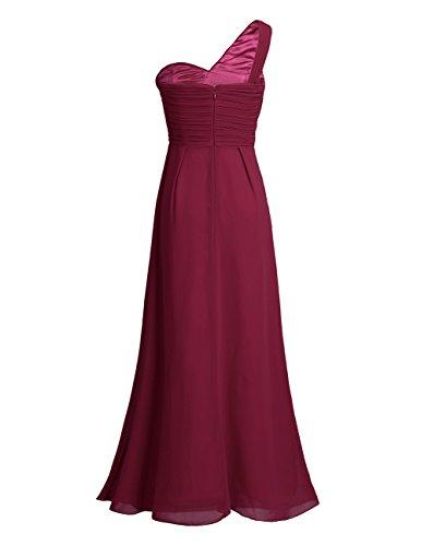 iEFiEL Vestido de Gasa Cóctel Fiesta Noche para Mujer Vestido de Boda de Modas para Dama de Honor Vino