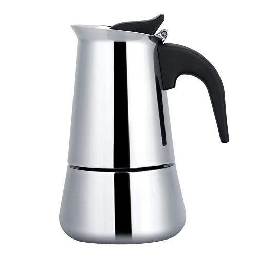Jeffergarden Cafetera Italiana portátil de Acero Inoxidable Moka Espresso Maker Mocha Pot (100ml)