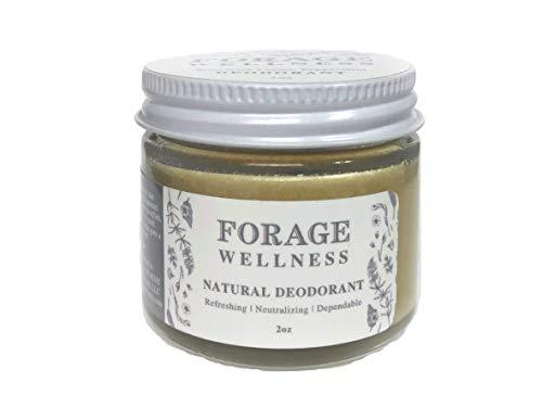 (Forage Wellness Natural Deodorant (Rosemary Lemon Peppermint) Zero Waste 2oz Glass Jar)