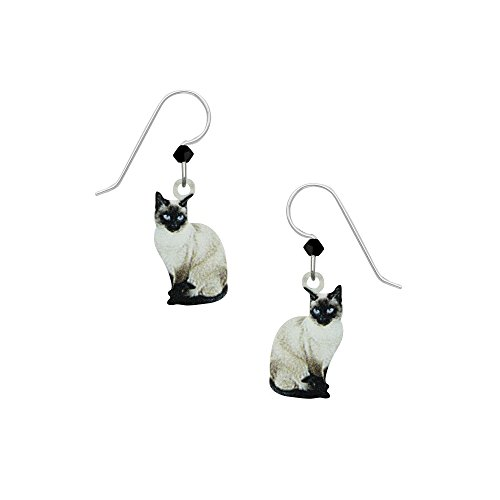 (Sienna Sky Artisan Siamese Cat Earrings with Gift Box)