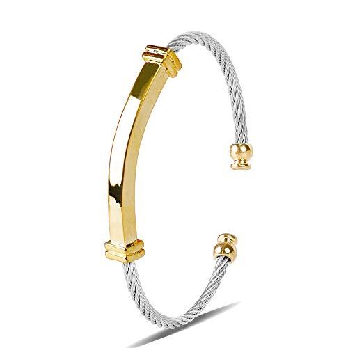 Zean Bracelet Designer Brand 14K Gold Plated Bangle for Womens Inspired Antique Jewelry (Best Designer Jewelry Brands)