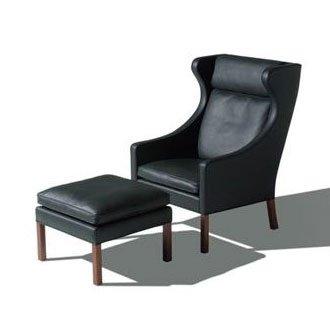 Ohrensessel designklassiker  Ohrensessel mit Hocker / Børge Mogensen / Fredericia Furniture ...