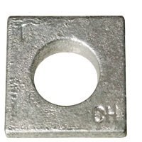 "(35Pcs) 1 1/2"" Square Beveled Malleable Washer, Hot Dip Galvanized (Hdg) (Inch), Size: 1-1/2"""