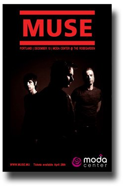 Muse Poster - Concert Promo Flyer for Drones Tour
