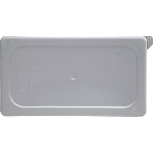 Cold Pan Lid - Rubbermaid Commercial Products Cold Food Pan, Soft Sealing Lid, 1/3 Size, Gray (FG122P29GRAY )