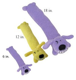 Multi Pet Loofa Dog Mini 6 in Plush Dog Toy Assorted Colors