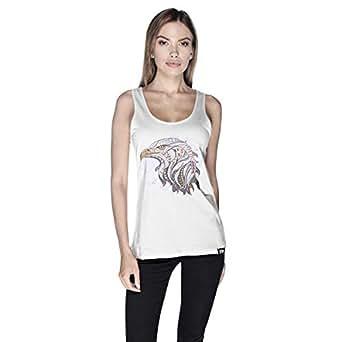 Creo Eagle Animal Tank Top For Women - S, White