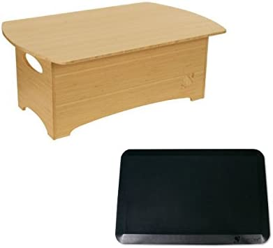 Standee Classic Bamboo Stand Up Desk Combo Pack