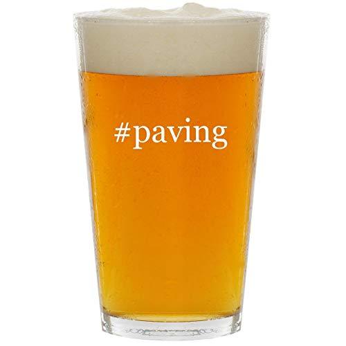 #paving - Glass Hashtag 16oz Beer Pint