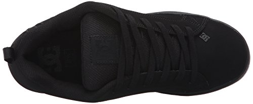 Pictures of DC Kids Youth Court Graffik Skate Shoes Black/Black/Black 2