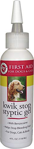 (Kwik-Stop Liquid Miracle Care Gel for Dogs, Cats & Birds, 4 oz Bottle)