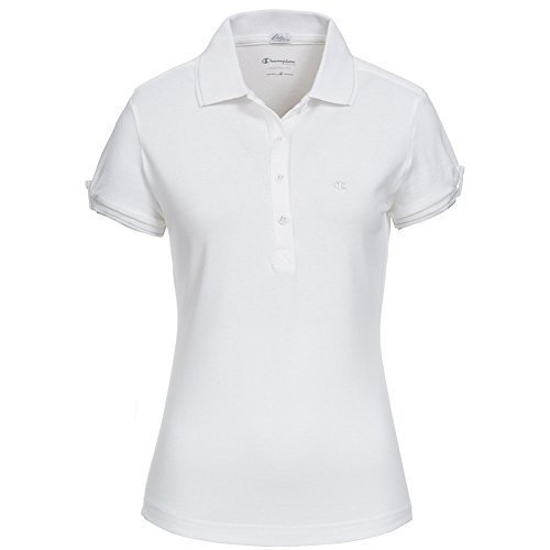 Champion para mujer Polo-Shirt Blanco blanco Talla:M: Amazon.es ...