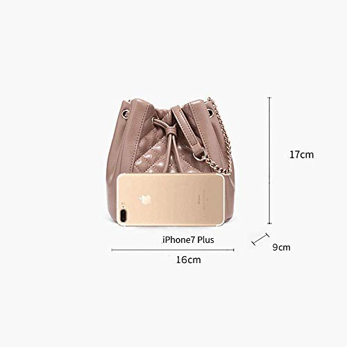 Gran color 2018 Mensajero Capacidad Nueva Mujer Hombro Pink Bolso 17cm Bandolera Tamaño 9 16 De Para Pink Bolsa Bnq0wzPX1