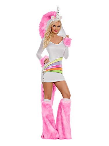Party King Women's Rainbow Unicorn Costume, Pink, Medium]()