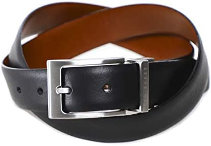 [해외]Ted Baker Men`s Reversible Leather Karmer Belt Black / Ted Baker Men`s Reversible Leather Karmer Belt Black