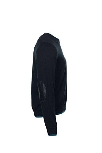 Baruffa The Men's Store Black Heather Crew Neck Sweater, Size XLarge by Baruffa (Image #4)