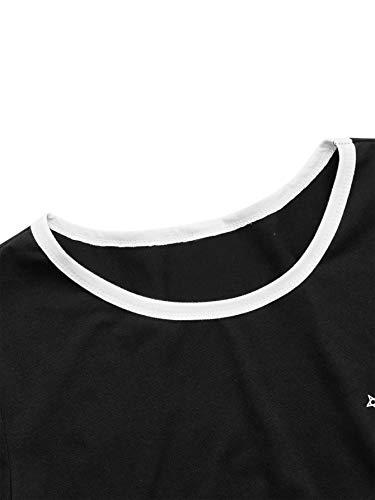 SweatyRocks Women's Cactus Print Crop Top Summer Short Sleeve Graphic T-Shirts