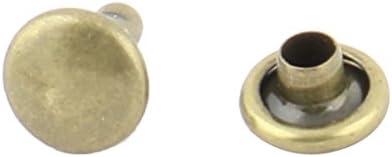 uxcell ダブルキャップリベット 金属 ファスナーキャップ 衣類キャップ テキスタイルノブ