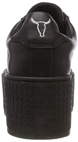 Seoul Windsor Smith 001 black Nero Donna Sneaker qwU5gBxTwr
