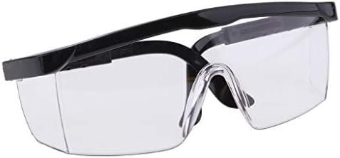 保護ゴーグル 溶接メガネ 作業眼鏡 安全 防塵 耐風 - 透明