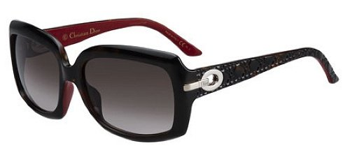 Christian Dior Women's My Ladydior6 Dark Tortoise On Red Frame/Brown Gradient Lens Plastic - Dior Red Sunglasses