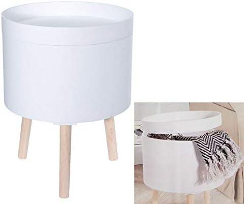 Diseño Mesa Auxiliar 35 cm Color Blanco – Sofá Mesa con caja – Mesa redonda: Amazon.es: Juguetes y juegos