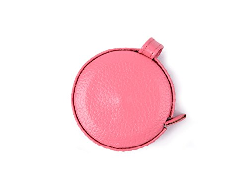 Leather Tape Measure Retractable Small Measuring Tape for Cloth Body Sewing Tailor Ruler Waist Fit in a Pocket Inch/cm Double Sided Plastic Soft Tape Measure for Medical (Pink) by WEIYISS.inc
