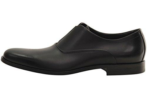 Hugo Boss Mens Sigma Zwarte Elastische Inzet Loafers Schoenen Sz: 10