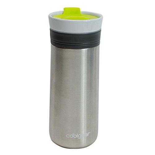 coolgear KAFE 12oz Kona Grip ceramic & Stainless Steel Coffee Mug-Green, 12 oz, Green