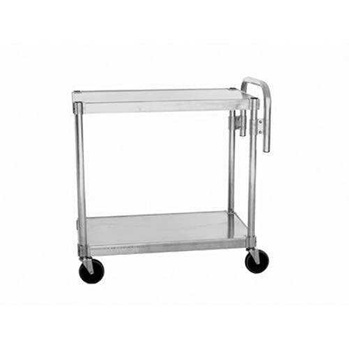 PVIFS NUC1836 Utility Cart with 2 Adjustable Solid Shelves and Handle, 400 lbs Shelf Capacity, 36