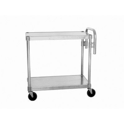 PVIFS NUC2024 Utility Cart with 2 Adjustable Solid Shelves and Handle, 400 lbs Shelf Capacity, 24'' Length x 20 Width x 36'' Height by PVIFS