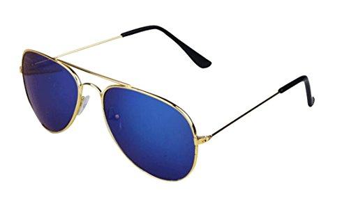 Eyeglasses Children Eyewear polarized Tide Double sunglasses Bridge Blue Cool Hollow Lens Frame Metal Gold Kids zzwqrxdUv
