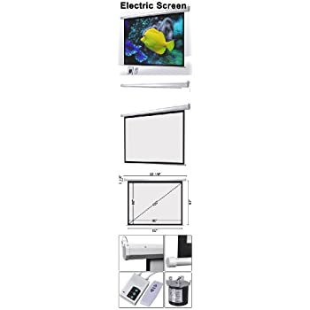 Retractable electric projection screen 100 for Motorized retractable projector screen